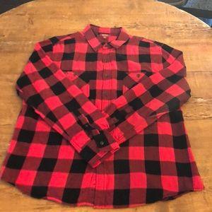 Arizona Men's Black&red Flannel Size. Xxl